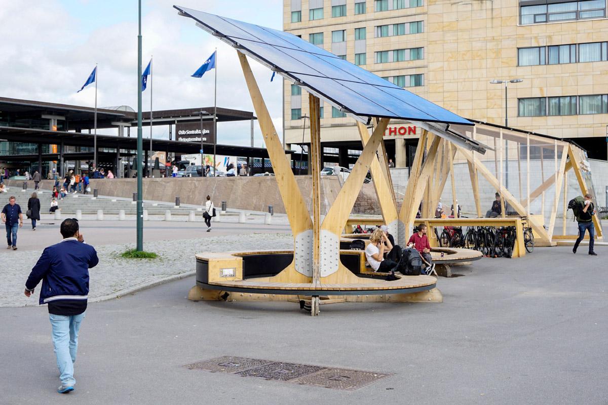 Solar-Handyladestation mitten in Oslo
