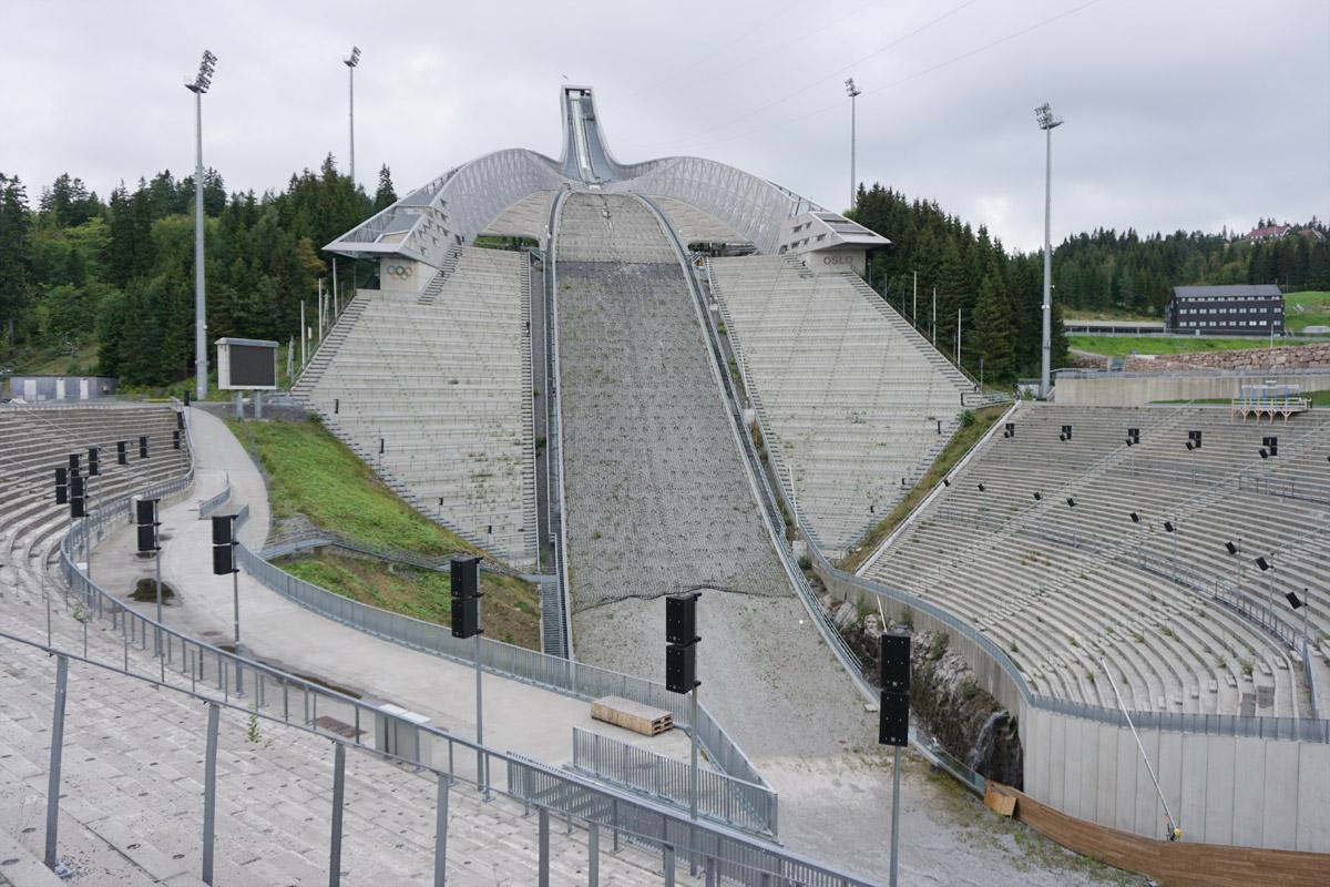 Weltcupschanze am Holmenkollen hoch über Oslo