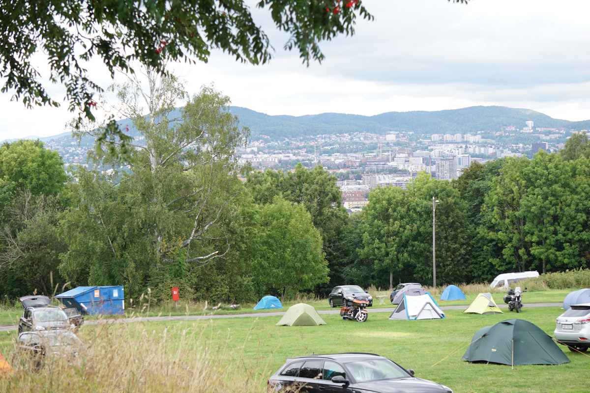 Ekeberg Camping hoch über Oslo