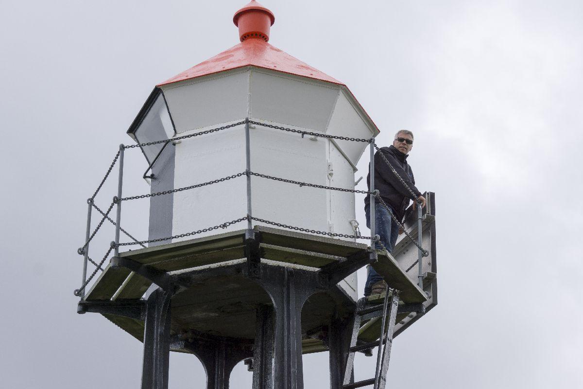 Andreas wagte sich trotz des stürmischen Wetters auf den Leuchtturm.