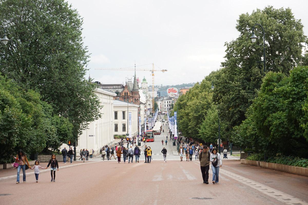 Blick vom Schloss in die Stadt