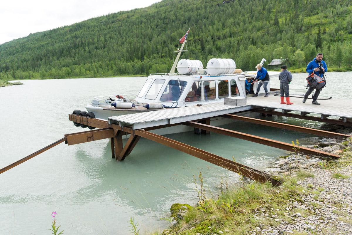Unser Fährboot zum Gletscher.