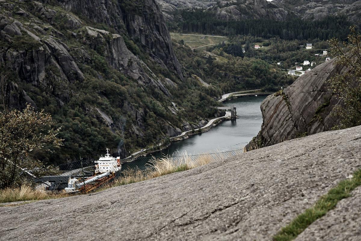Blick in den Fjord.