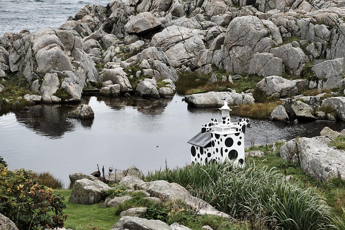 Der Kuh-Leuchtturm hat seinen eigenen kleinen See .