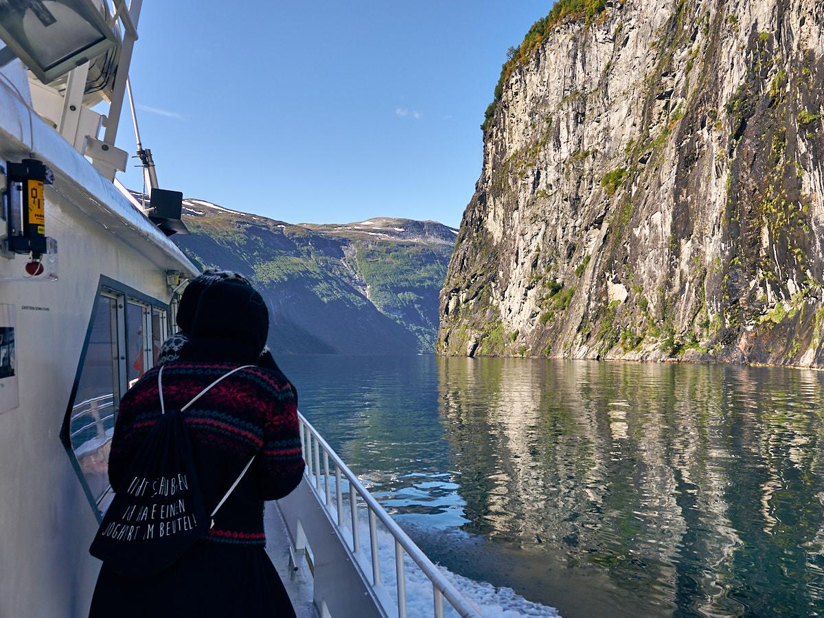Schifffahrt auf dem Geirangerfjord