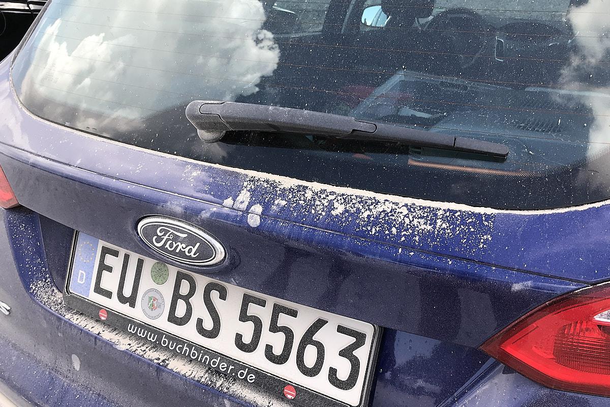 Das arme deutsche Auto.