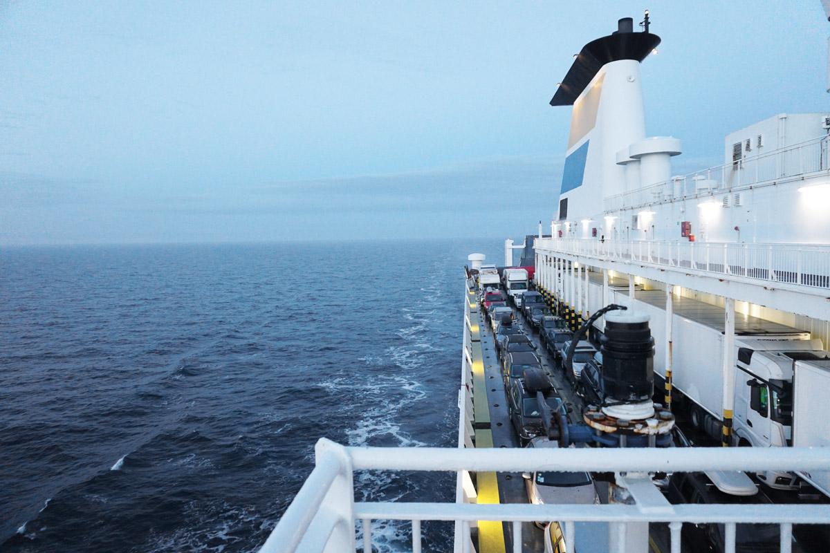 Blick zurück Richtung Rostock