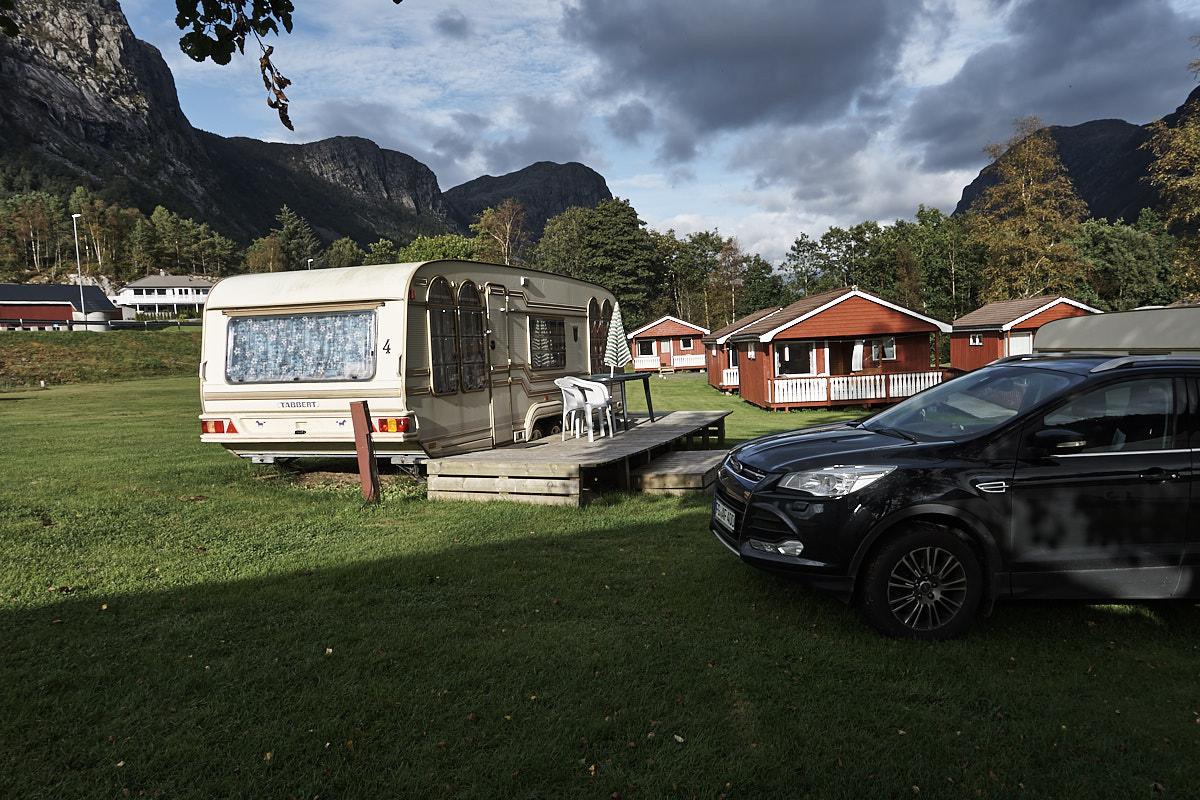 Unser Wohnwagen bei Wathne Camping