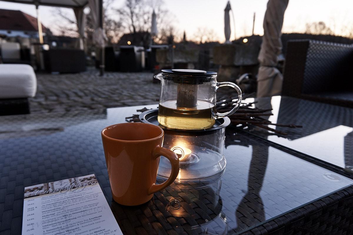 Abendstimmung im WeinReich in Diesbar-Seußlitz