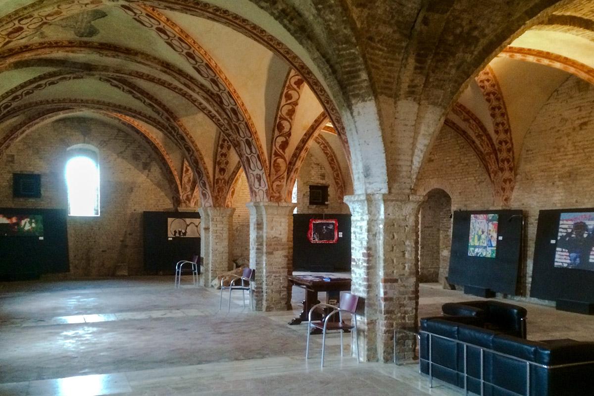 Im Ausstellungsraum erfährt man - gegen Eintritt - einiges über die Geschichte des ehemaligen Klosters.
