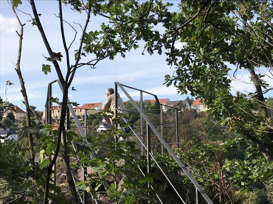 Blick von der Heidenschanze auf das Freitaler Tal